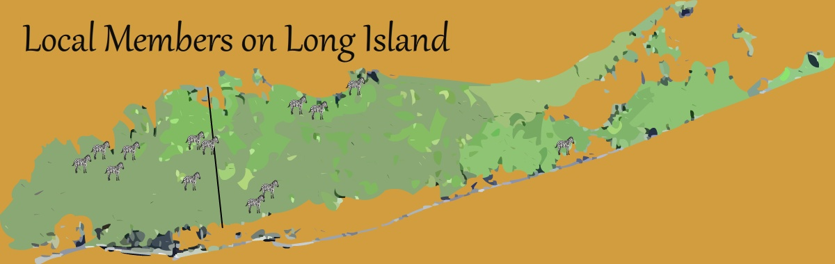 Long Island Map with Zebra Icons